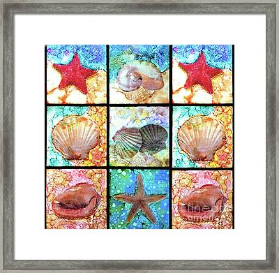 Shells X 9 Framed Print by Alene Sirott-Cope
