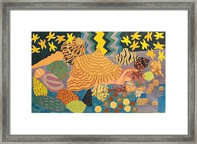 Framed Print featuring the painting Shellshocked by Erika Chamberlin