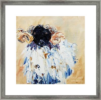 Shelly Sheep Framed Print by Lynda Cookson
