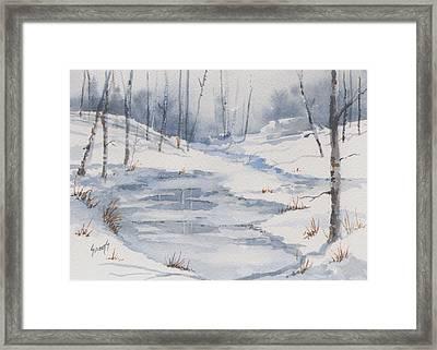 Shelly's Snow Framed Print by Sam Sidders