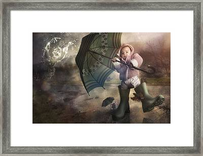 Shelter From The Storm Framed Print by Christophe Kiciak