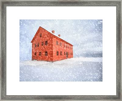 Shelter From The Storm Painting Framed Print by Edward Fielding