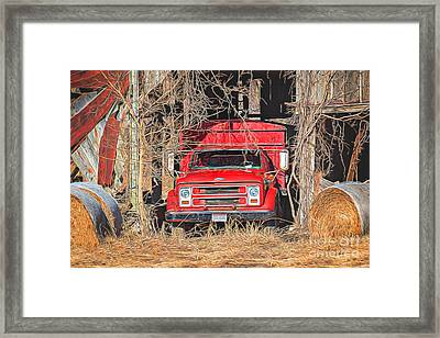 Shelter From The Weather Framed Print