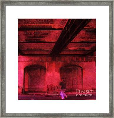 Shelter In The Tunnel Framed Print by Reb Frost
