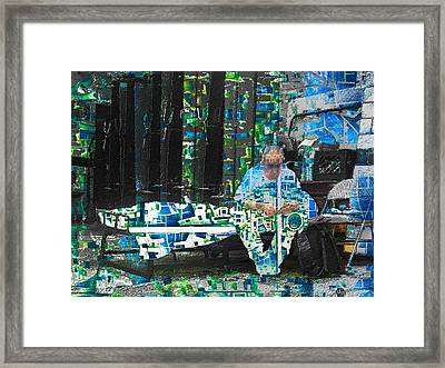 Framed Print featuring the mixed media Shelter by Tony Rubino