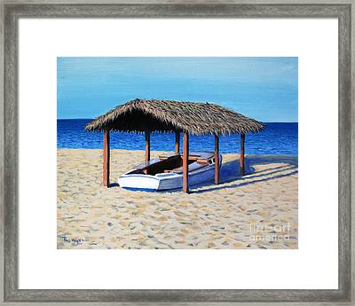 Sheltered Boat Framed Print by Paul Walsh