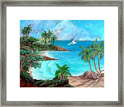 Sheltered Cove Framed Print