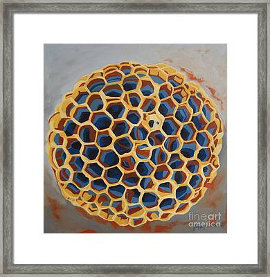 Framed Print featuring the painting Sheltered by Erin Fickert-Rowland