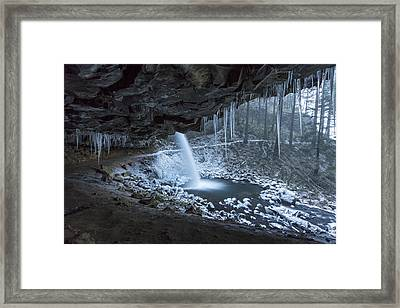 Sheltered From The Blizzard Framed Print