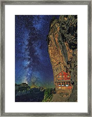Sheltered From The Vastness Framed Print