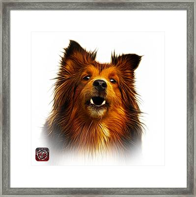 Framed Print featuring the painting Sheltie Dog Art 0207 - Wb by James Ahn
