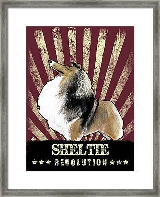 Sheltie Revolution Framed Print