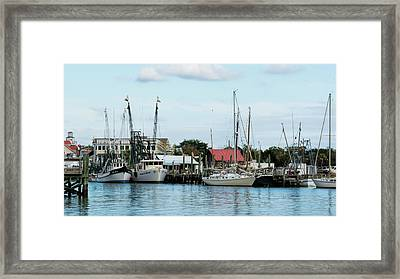 Shem Creek Framed Print by Ed Waldrop