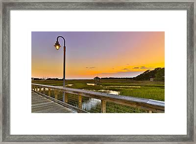 Shem Creek Pier Boardwalk - Mt. Pleasant Sc Framed Print