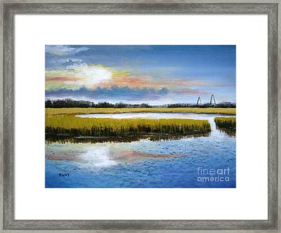 Shem Creek Sky Framed Print