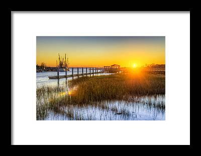 South Dock Framed Prints