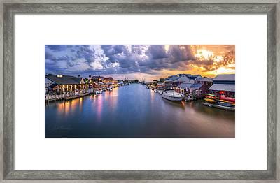 Shem Creek Framed Print