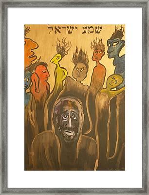 Shema Yisrael Framed Print by Zsuzsa Sedah Mathe