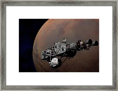 Framed Print featuring the digital art Shenandoah At Mars by David Robinson