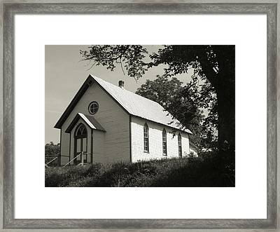Shenandoah Church Framed Print by Michael L Kimble