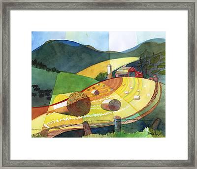 Shenandoah Haystacks Framed Print