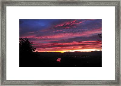 Framed Print featuring the photograph Shenandoah Morning Glow by Lara Ellis