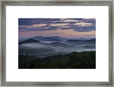 Framed Print featuring the photograph Shenandoah Sunrise by Kevin Blackburn