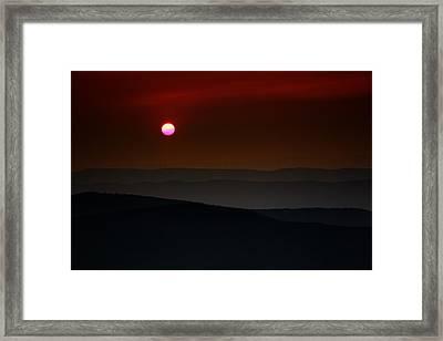 Shenandoah Sunset Framed Print by Rick Berk