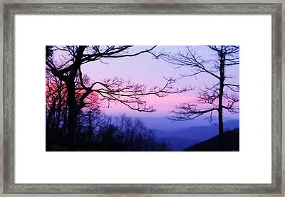 Shenandoah Twilight Framed Print
