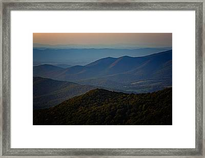 Shenandoah Valley At Sunset Framed Print