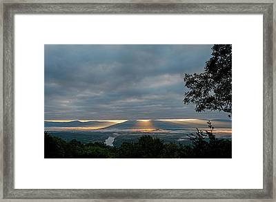 Framed Print featuring the photograph Shenandoah Valley First Light by Lara Ellis