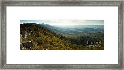 Shenandoah Valley From Marys Rock Framed Print by Dustin K Ryan