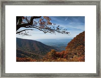 Shenandoah Valley From The Mountain Top Framed Print by Lara Ellis