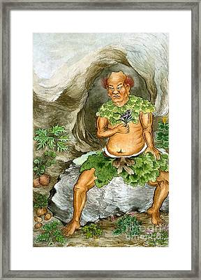 Shennong, Chinese Deity Of Medicine Framed Print by Wellcome Images