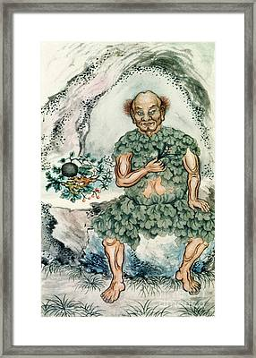 Shennong, Chinese God Of Medicine Framed Print by Wellcome Images