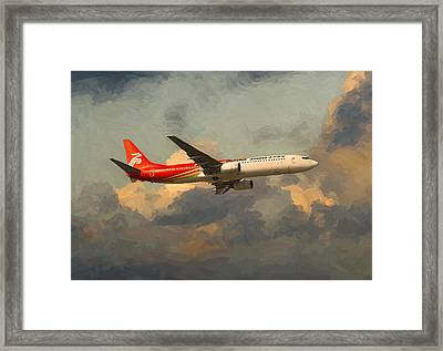 Shenzhen Airlines B739 On Route Framed Print