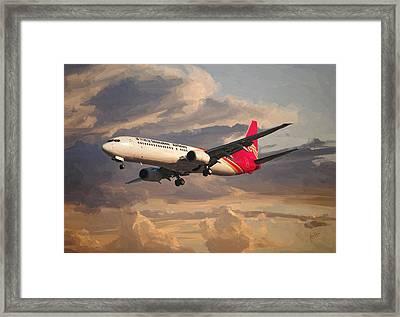 Shenzhen Airlines Boeing 737-900 Landing Framed Print