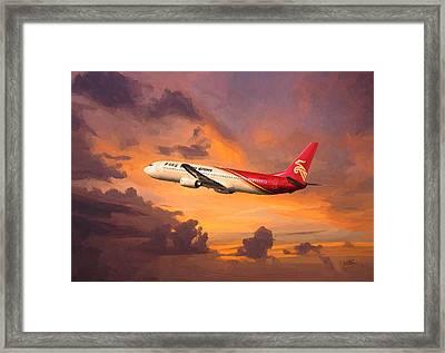 Shenzhen Airlines Enroute Framed Print