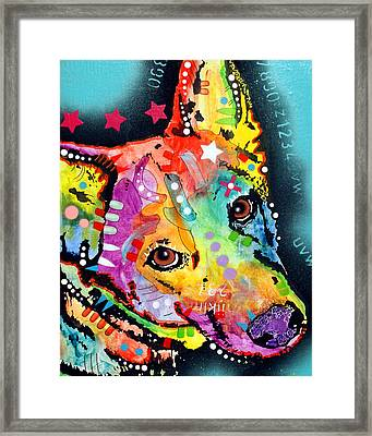 Shep Framed Print by Dean Russo