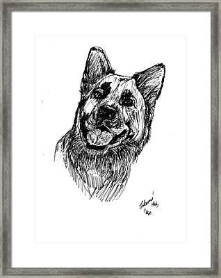 Shepard Framed Print by Charme Curtin