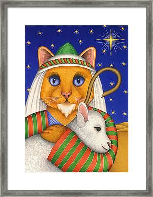 Shepherd Cat Framed Print by Carol Wilson