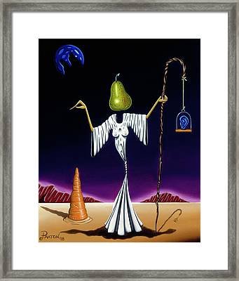 Framed Print featuring the painting Shepherd Moon by Paxton Mobley