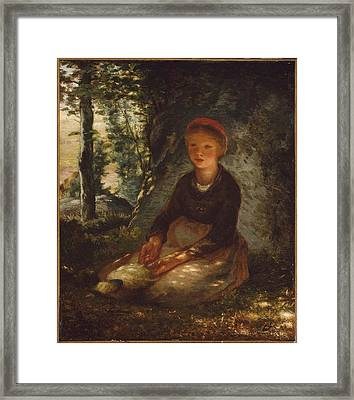 Shepherdess Seated In The Shade Framed Print by MotionAge Designs