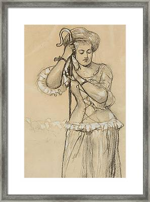 Shepherdess Framed Print by Winslow Homer
