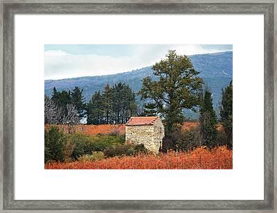 Shepherd's Hut, Provence In Autumn Framed Print