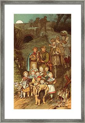 Shepherds On Their Way To Bethlehem Framed Print by Victor Paul Mohn