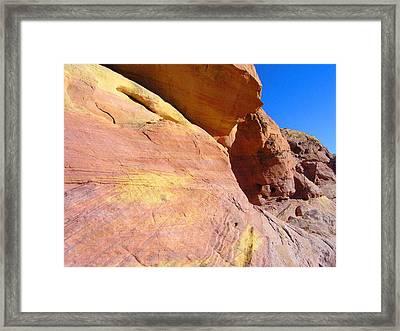 Sherbert Hills Framed Print