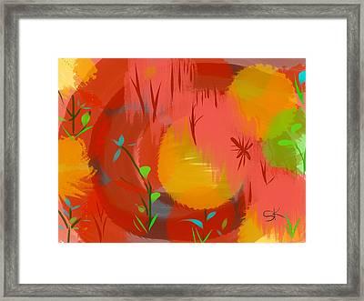 Sherbet In The Park Framed Print