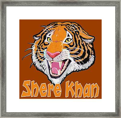 Shere Khan Framed Print