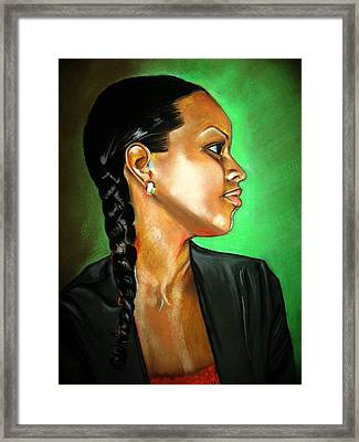 Sheri Framed Print by Yxia Olivares